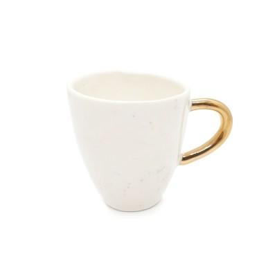Pistrui de aur - Cescuta din portelan toarta aurie, 100ml Gold Freckles Cup 1-S