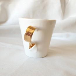 White - Cana din portelan alb lucios, cu toarta panglica, 200ml White_C3M