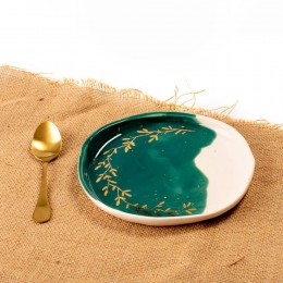 Green and Gold - Farfurie din portelan pentru aperitiv, diametru 18cm Green and Gold 1-S