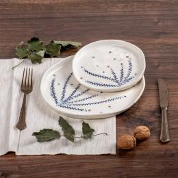 Lastari Albastri - Farfurie din portelan pentru aperitiv sau desert, diametru 18cm Lastari_2-S1