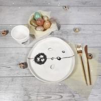 Paste- Farfurie pentru aperitiv - cuib18cm