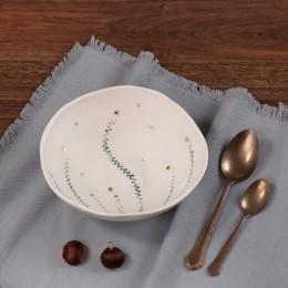 Lastari Turcoaz - Bol mare din portelan, pentru supa sau salate diametru 21cm Lastari 1-B2