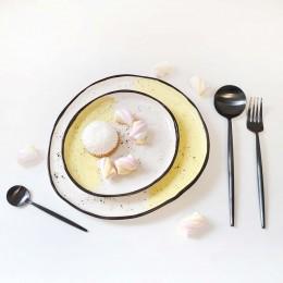 Bazar - Set farfurie fel principal si aperitiv - galben