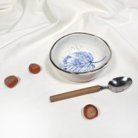 Frunze albastre - Bol mic diametru 11cm