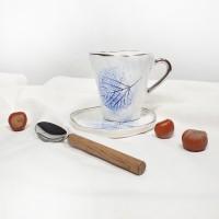 Frunze Albastre - Cana cu toarta dreapta 200ml