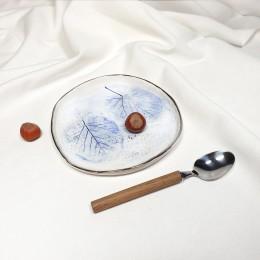 Frunze Albastre - Farfurie  diametru 18cm