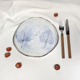 Frunze Albastre - Farfurie diametru 22cm