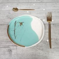 Ghiocel - Farfurie cu un ghiocel - verde menta 18cm
